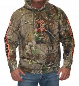 BuckedUp Pullover Hoodie - Realtree APG Camo with Orange Logo
