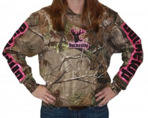Pullover Hoodie - Realtree APG Camo with Pink Logo
