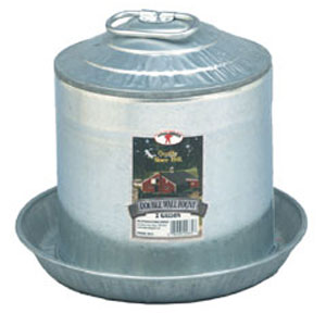 Miller Manufacturing 2 Gallon Galvanized Poultry Waterer