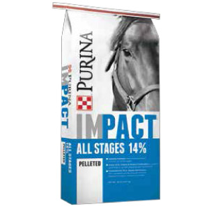Purina® Impact® All Stages 14% Pelleted Horse Feed