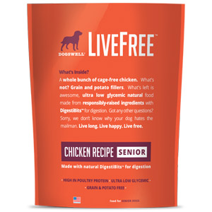 Dogswell® LiveFree® Chicken Senior Dog Food
