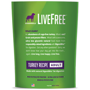 Dogswell® LiveFree® Turkey Adult Dog Food