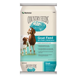 Nutrena® Country Feeds® 16% Pelleted Goat Feed - Medicated