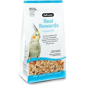 ZuPreem® Real Rewards™ Tropical Mix Treats for Medium Birds