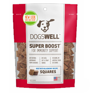 Dogswell® Super Boost Squares™ Beef with Blueberry Dog Treats