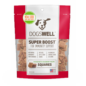 Dogswell® Super Boost Squares™ Chicken with Cranberry Dog Treats