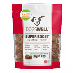 Dogswell® Super Boost Squares™ Turkey with Cranberry Dog Treats