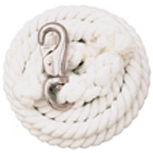 Weaver Leather White Cotton Lead Rope with Nickel Plated Bull Snap