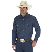 70127 Cowboy Cut® Work Western Rigid/Stonewash Denim Long Sleeve Shirt