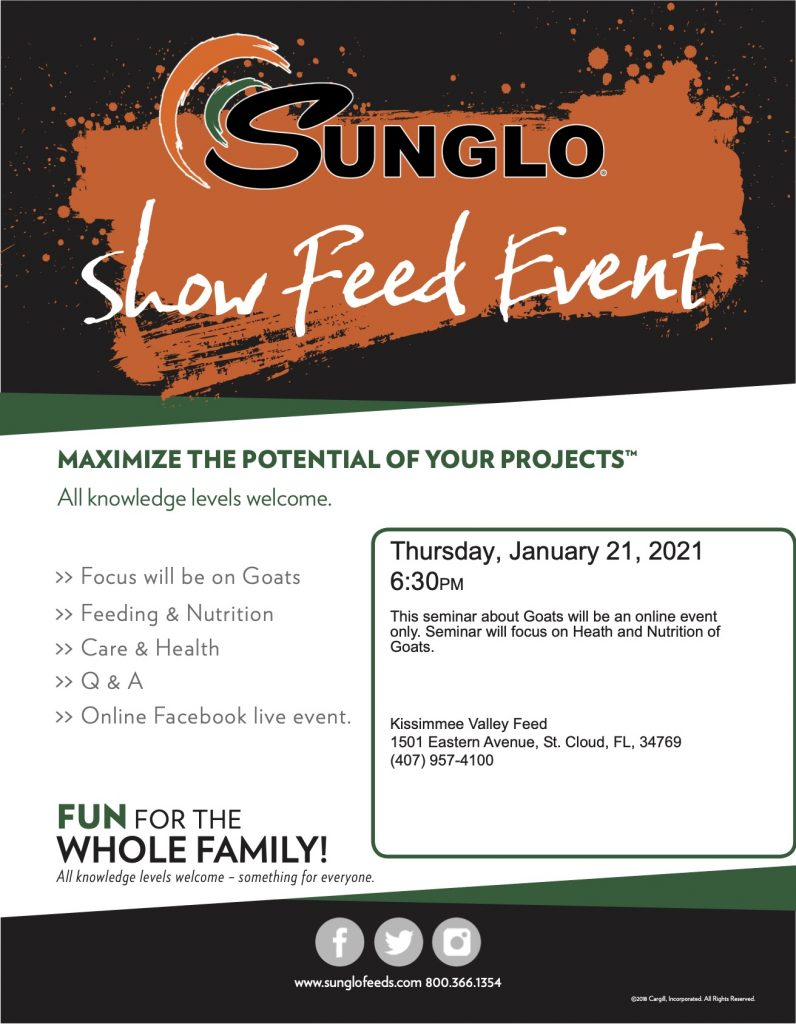Sunglo show Goat Event Flyer